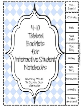 Tabbed Booklets-EDITABLE Booklets-YOU design it!