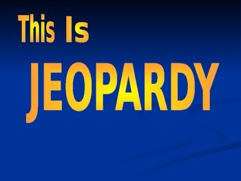 Tabernacle Jeopardy