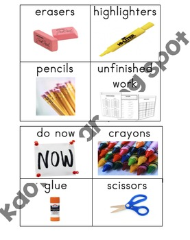 Table Bin Organization Labels