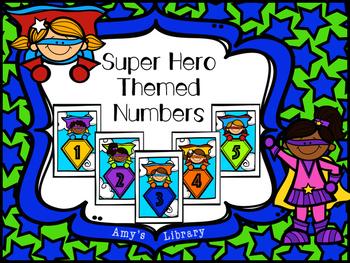 Table/Classroom Numbers Super Hero Theme