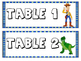 Table Labels Team Labels Toy Story Theme