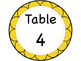 Table Number Signs