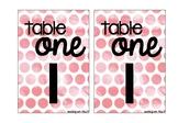 Table Numbers #AUSBTS17