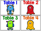 Table Numbers - Monster Version