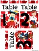 Table Numbers - Pirates and Polka Dots Edition