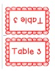Table Organization Labels- Color & Black and White