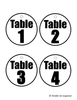 Table Passes (Back to School Routines)