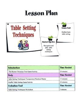 Table Setting Lesson