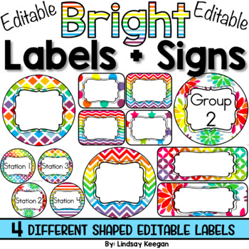 Labels for Tables, Groups, Stations and More!