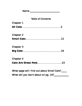 Table of contents Lesson