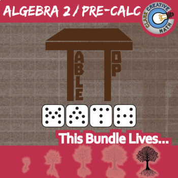TableTop Math -- ALGEBRA 2 / PRE-CALCULUS BUNDLE -- 4 Games