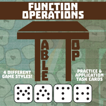 TableTop Math -- Function Operations -- Game-Based Small G