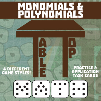 TableTop Math -- Polynomials -- Game-Based Small Group Practice