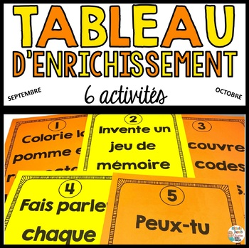 Tableau d'enrichissement - Automne    - French Early Finisher