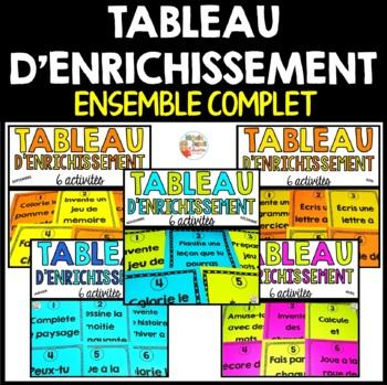 Tableau d'enrichissement  -  ENSEMBLE COMPLET   -   French