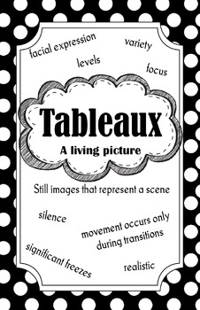 Tableaux Poster (Black and White)