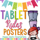 Tablet Ipad Chromebook iPod Rules Posters