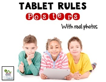 Tablet Rules Posters {real photographs & editable}