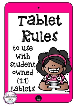 Tablet Rules - Use for Student Owned Tablets