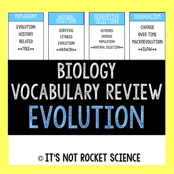 Biology Vocabulary Review Game - Evolution