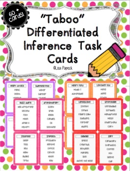 """""""Taboo"""" Inference Task Cards and Center!"""