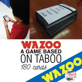 "Taboo Game Cards - ""Wazoo"""