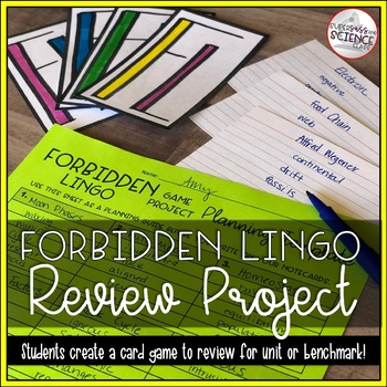 Taboo Review Game Project - Editable