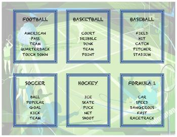 Taboo Game - Sports