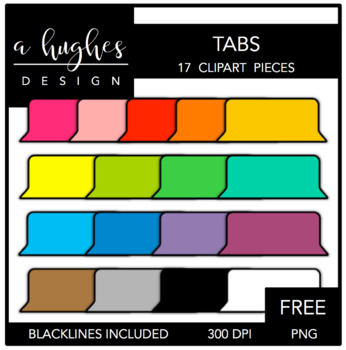FREE Tabs {Graphics for Commercial Use}