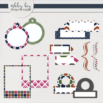 Tabs, Tags, and more Clipart- Jewel Tone Collection