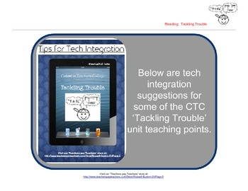Tackling Trouble 1st Grade Reader's Workshop iPad Tech Int