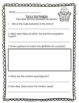 Tacky the Penguin Assessment