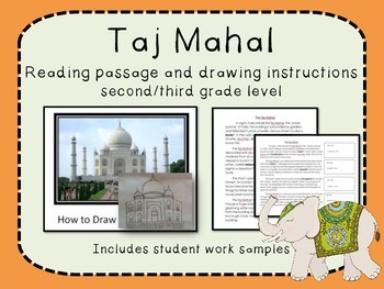 India Taj Mahal reading passage and How To drawing