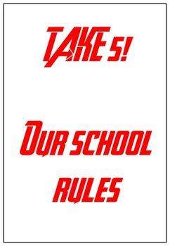 Take 5 Rules poster/comic