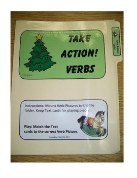 Take Action Verbs #1: File Folder Activity