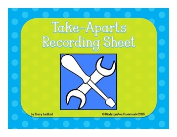 Take Aparts Recording Sheet