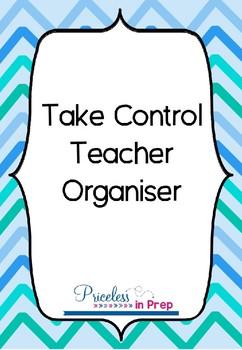 Take Control Teacher Organiser Blue Chevron