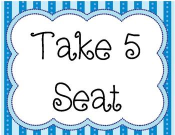 Take Five Sign