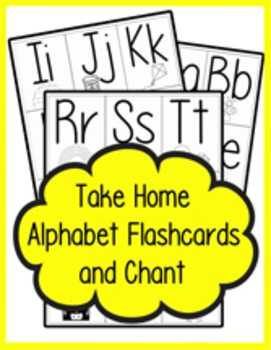 Take Home Alphabet Flashcards and Chant