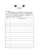 Take Home Folder, Communication Sheet