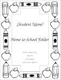 Take Home Folder Cover For Your Class