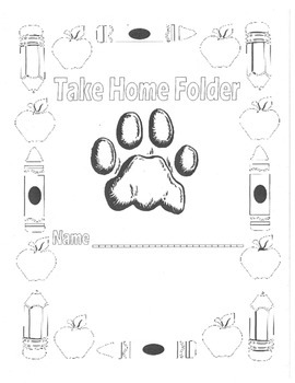 Take Home Folder Cover- Ready to Decorate!