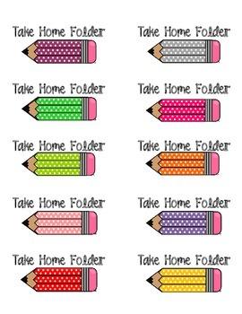 Take Home Folder Labels FREEBIE