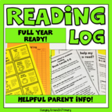 Reading Log with Tips for Parents
