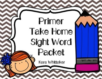 Take Home Sight Word Packet (Primer)