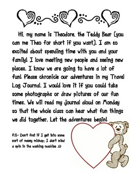 Take Home Stuffed Animal Note