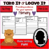 Take It or Leave It February Edition Providing Evidence in