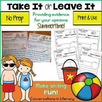 Take It or Leave It Summertime: Providing Evidence in Opin