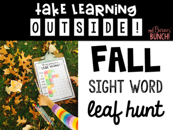 Take Learning Outside: I'm Going on a Leaf Hunt- Sight Words