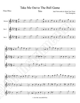 Take Me Out to the Ballgame - Trio Arrangement for Band In